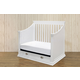 Franklin & Ben Mason 4-in-1 Convertible Crib Set with Toddler Rail in White
