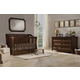 Franklin & Ben Mayfair/Arlington  4-in-1 Convertible Crib Set with Toddler Rail in Rustic Brown