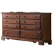 Fairfax Home Furnishings Folio Bethany Dresser in Maple Brown F4001-10