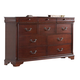 Fairfax Home Furnishings Folio Liberty Dresser in Cherry F4283-10
