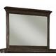 Durham Furniture Springville Collection Vertical Frame Mirror in Truffle 145-181-TRFL