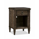 Durham Furniture Springville Collection 1 Drawer Nightstand in Truffle 145-201-TRFL