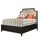 Durham Furniture Springville King Upholstered Panel Bed in Truffle 145-145-TRFL