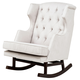 Nursery Works Empire Rocker in Ecru with Dark Legs 1024ED