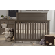 Franklin & Ben Nelson 4-in-1 Convertible Crib with Toddler Rail in Washed Grey B4101WG
