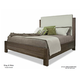 Durham King & Main Queen Upholstered Panel Bed in Toasted Almond 147-126TA
