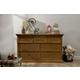 Franklin & Ben Nelson 7 Drawer Double Wide Dresser in Aged Oak B4116AO