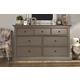 Franklin & Ben Nelson 7 Drawer Double Wide Dresser in Washed Grey B4116WG