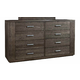 Durham King & Main 8 Drawer Dresser in Toasted Almond 147-174TA