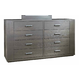 Durham King & Main 8 Drawer Dresser in Flint 147-174F
