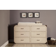 Franklin & Ben Providence 6-Drawer Dresser in Distressed White B9116X