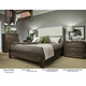 Durham King & Main 4 Piece Upholstered Panel Bed in Toasted Almond