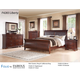 Fairfax Home Furnishings Folio Liberty Sleigh Bedroom Set in Cherry