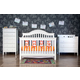 DaVinci Baby Jayden Collection 4 in 1 Convertible Crib Set in White M59WSET