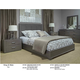Durham King & Main 4 Piece Platform Bed in Toasted Almond