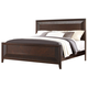Fairfax Home Furnishings Folio Bay Hill Queen Panel Bed in Dark Brown