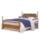 Carolina Furniture Common Sense Full Poster Bed in Salem Maple