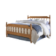Carolina Furniture Common Sense Full Spindle Bed in Salem Maple