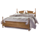 Carolina Furniture Common Sense Queen Panel Bed in Salem Maple