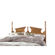 Carolina Furniture Common Sense King Panel Headboard w/ Bed Frame in Salem Maple
