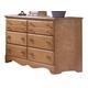 Carolina Furniture Common Sense 6 Drawer Dresser in Salem Maple 155600