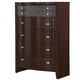 Fairfax Home Furnishings Folio Bay Hill Drawer Chest in Dark Brown F4735-07