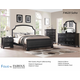 Fairfax Home Furnishings Folio Soho Panel Bedroom Set in Dark Espresso