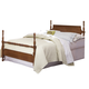 Carolina Furniture Common Sense Full Poster Bed in Cherry