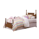 Carolina Furniture Common Sense Twin Panel Bed in Cherry