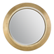 Bernhardt Jet Set Wood Framed Round Mirror in Gold Leaf 356-333G