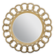 Bernhardt Jet Set Cast Resin Round Mirror in Gold Leaf 356-334G