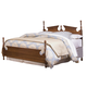 Carolina Furniture Common Sense Full Panel Bed in Cherry