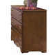 Carolina Furniture Common Sense 3 Drawer Dresser in Cherry 185300