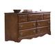 Carolina Furniture Common Sense 7 Drawer Dresser in Cherry 185700