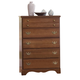 Carolina Furniture Common Sense 5 Drawer Chest in Cherry 184500