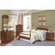 Carolina Furniture Common Sense 4 Piece Poster Bedroom Set in Cherry