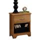 Carolina Furniture Sterling One Drawer Nightstand in Clear Oak 492100