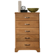 Carolina Furniture Sterling Five Drawer Chest in Clear Oak 494500