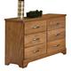 Carolina Furniture Sterling Double Dresser in Clear Oak 495600