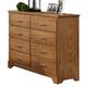 Carolina Furniture Sterling Tall Dresser in Clear Oak 495800