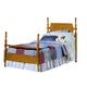 Carolina Furniture Carolina Oak Twin Poster Bed in Golden Oak