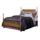 Carolina Furniture Carolina Oak Full Poster Bed in Golden Oak