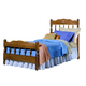 Carolina Furniture Carolina Oak Twin Spindle Bed in Golden Oak