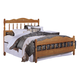 Carolina Furniture Carolina Oak Queen Spindle Bed in Golden Oak