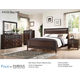 Fairfax Home Furnishings Folio Bay Hill Panel Bedroom Set in Dark Brown