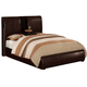 Crown Mark Furniture Flynn Queen Upholstered  Bed in Rich Brown