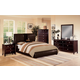 Crown Mark Furniture Flynn/Claret  Upholstered Bedroom Set in Rich Brown