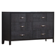 Crown Mark Furniture Bergamo Dresser in Black B6810-1