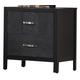 Crown Mark Furniture Bergamo Nightstand in Black B6810-2