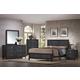 Crown Mark Furniture Bergamo Bedroom Set in Black
